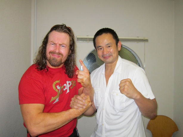 A show of respect between WNC Champ Nishimura and myself after our match.