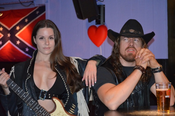 Irina Tundra and StarBuck on the set of the video shoot