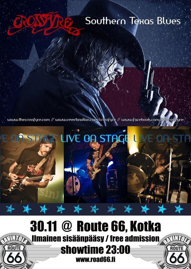 Crossfyre gig poster A3 KOTKA 2013