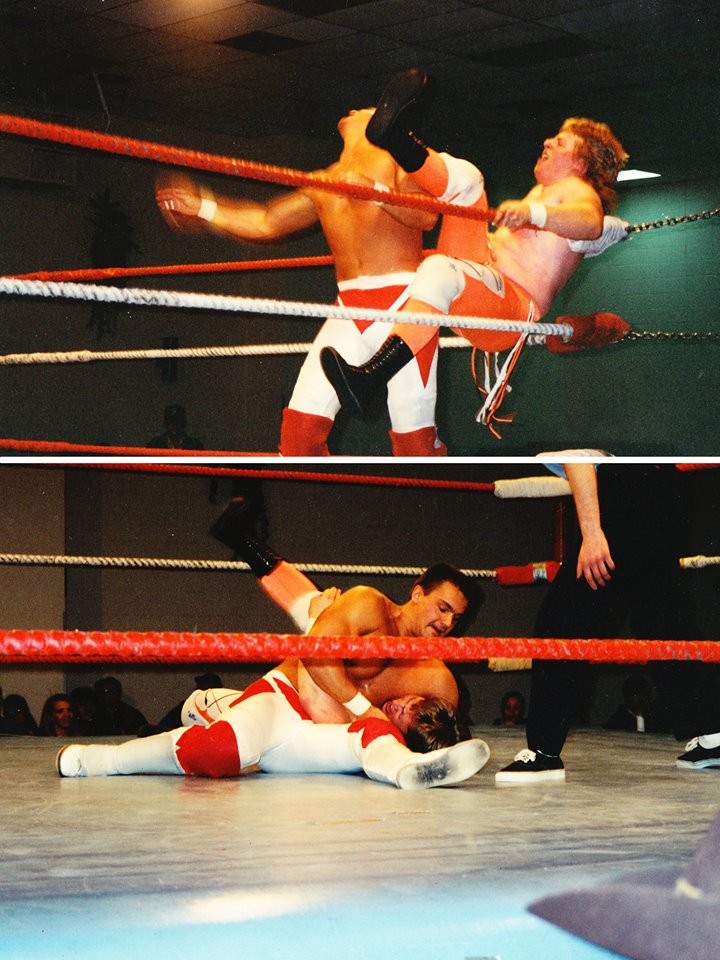 Me against Lance Storm in my very first match ever (photo by Rob Haynes)