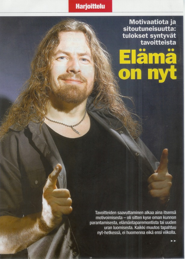Yours Truly in a feature article in Bodaus magazine from Finland a few years ago