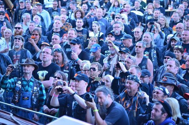 Bikers assembled from all over Europe for the bash.