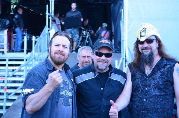 Striking a pose with Mr. Bill Davidson of Harley-Davidson motorcycles!