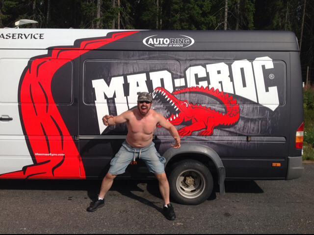 Crossfyre's official tour van, The Crossmobile!