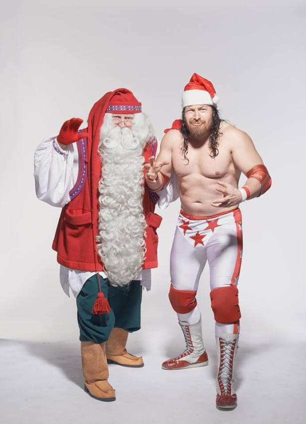 Santa and Yours Truly (photo by Marko Simonen)