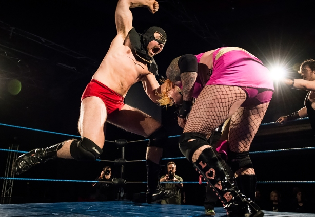 FCF afterparty wrestling show at Gloria, Helsinki, Finland.