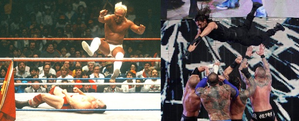 Hulk Hogan didn't have to do nearly as much as Seth Rollins for an equal response.