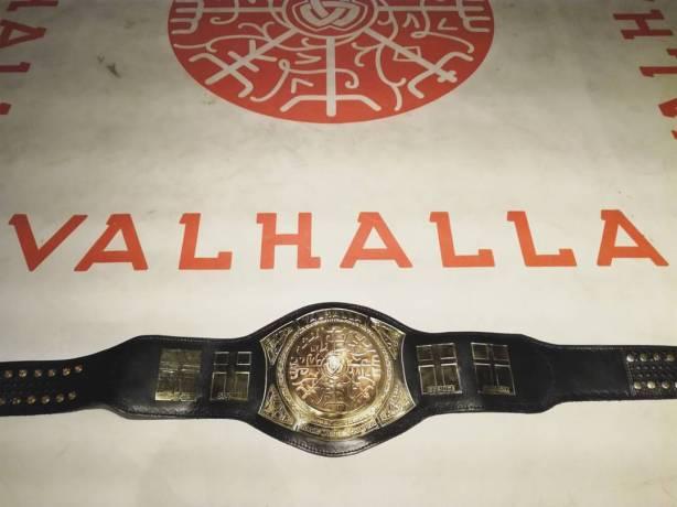 Valhalla Nordic Wrestling Championship belt
