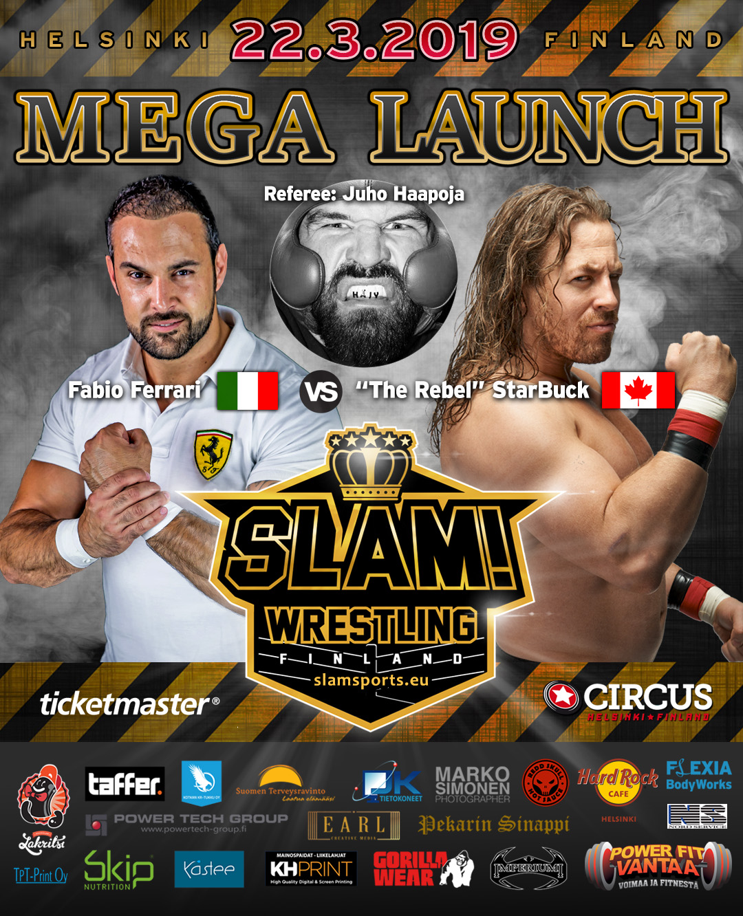 Match banner Fabio vs StarBuck MEGA LAUNCH