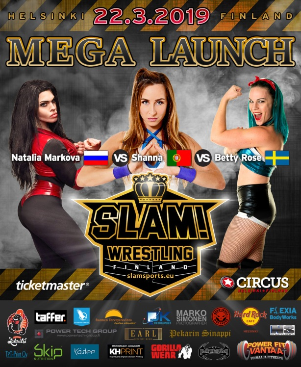Match banner Girls Triple Threat MEGA LAUNCH