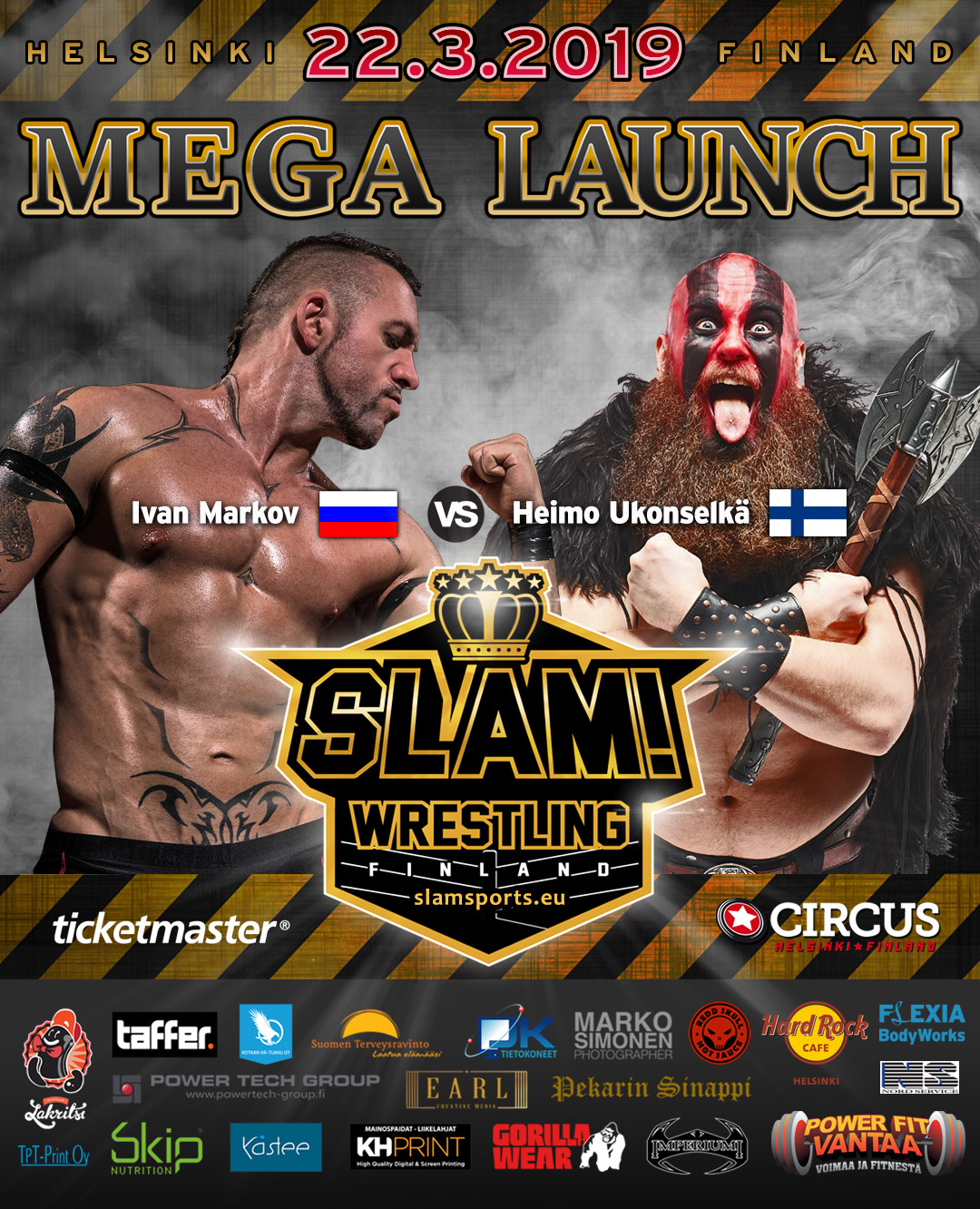 Match banner Ivan vs Heimo MEGA LAUNCH