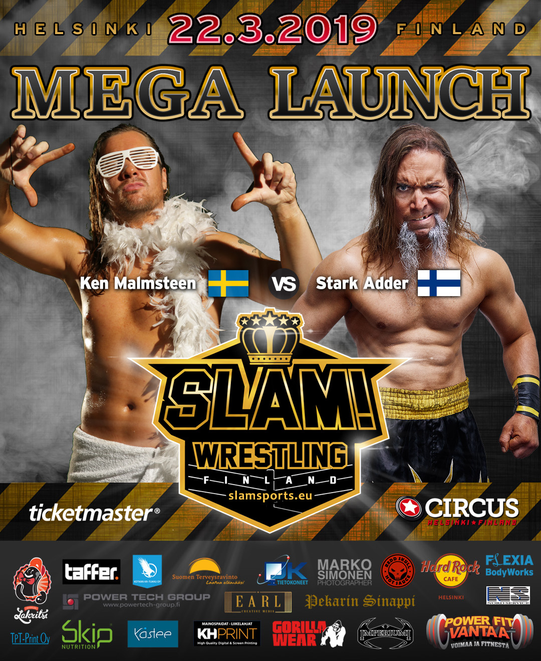 Match banner Malmsteen vs Adder MEGA LAUNCH
