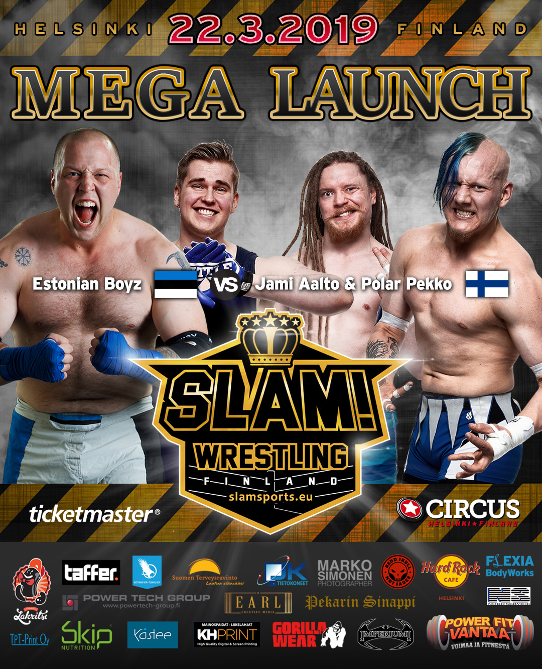 Match banner tag team MEGA LAUNCH