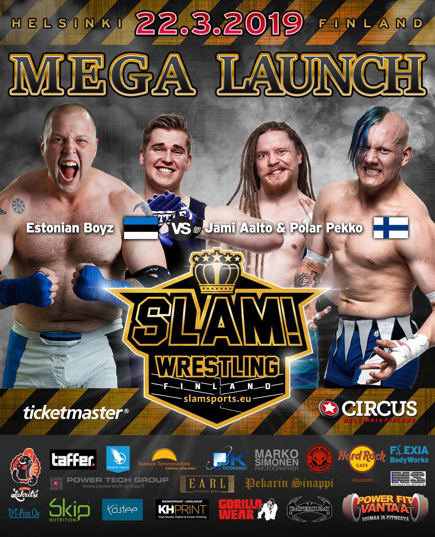 Match banner tag team MEGA LAUNCH