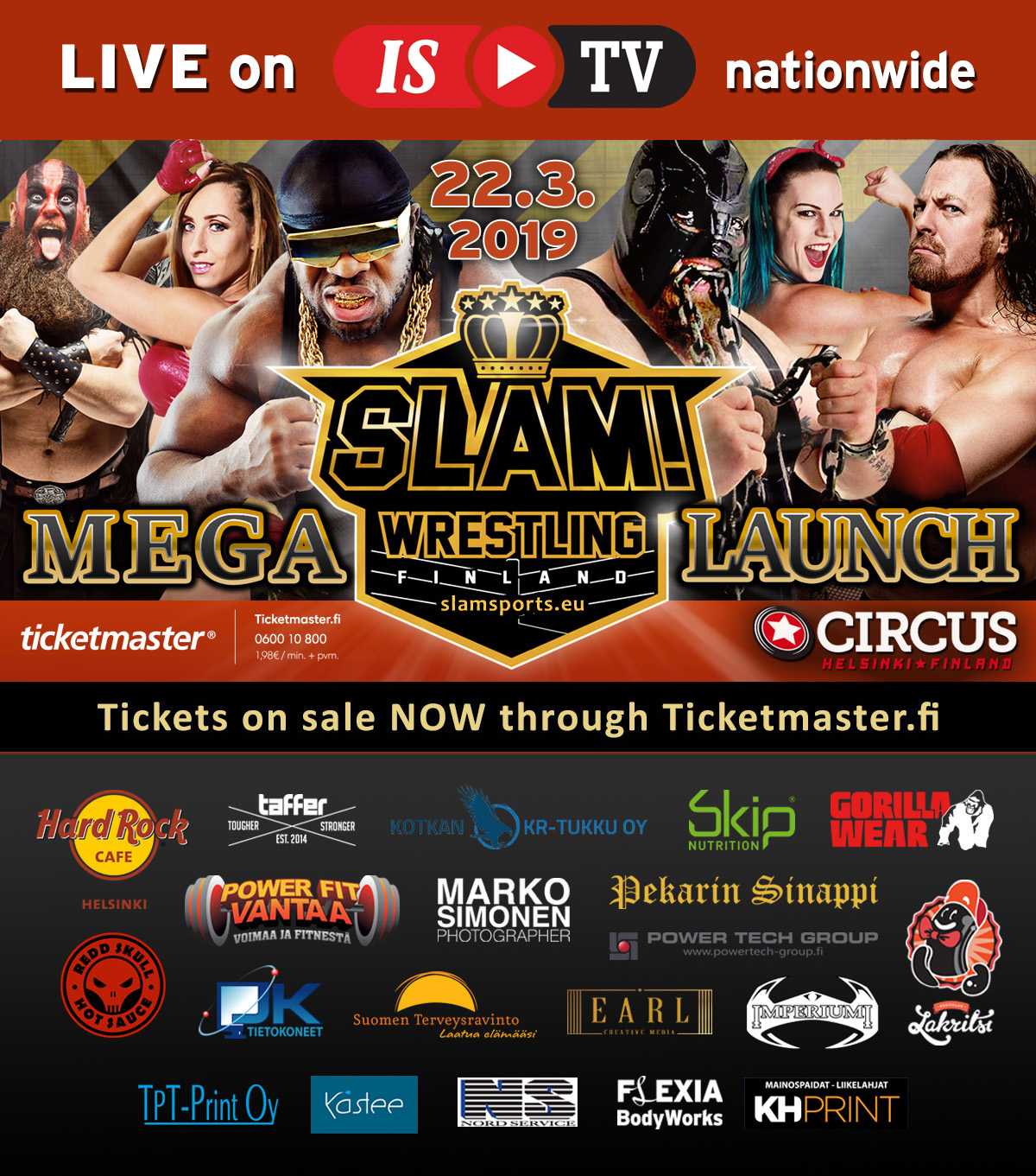 SLAM Mega Launch sponsors SQUARE NEWEST 20 SPONSORS